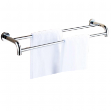 Máng treo khăn đôi cong Inox SUS 304 Eurolife EL-B3 (trắng bạc)