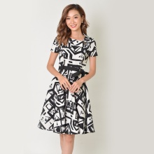 Đầm xòe thời trang Eden in họa tiết - D342