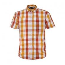 Áo sơ mi ngắn tay sọc caro thời trang ASM002 (cam,đỏ)