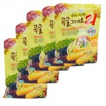 Bánh 21 vị ngũ cốc Gaemi Food Hàn Quốc 80g/gói - Combo 5 gói