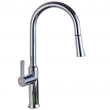Vòi rửa chén nóng lạnh, dây kéo 2 chế độ chảy Eurolife EL-T027 (Trắng bạc)