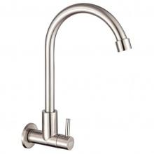 Vòi rửa chén lạnh âm tường Inox SUS 304 Eurolife EL-T024 (Trắng vàng)