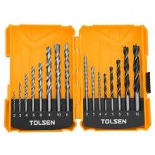 Bộ 16 mũi khoan gỗ - tường - sắt Tolsen 75628
