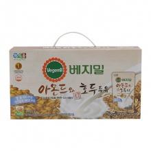 Sữa đậu nành óc chó hạnh nhân Vegemil Hàn Quốc - Xách 20 bịch (190ml/bịch)