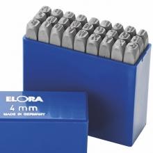 400B-7 Bộ đục chữ 7mm, 27 ký tự bằng thép hợp kim Elora