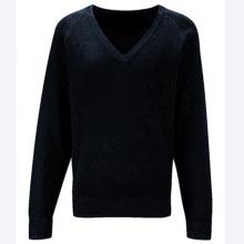 Áo len thời trang nam tay dài cổ tim - 475 (Xanh đen)