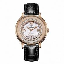 Đồng hồ hữ chính hãng Royal Crown 3638 dây da đen vỏ vàng hồng