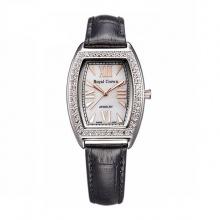 Đồng hồ nữ chính hãng RoyalCrown 3635 dây da đen