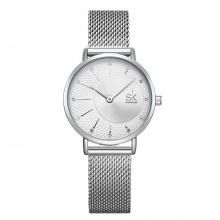 Đồng hồ nữ chính hãng Shengke Korea K0093L-01 Bạc