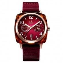 Đồng hồ nữ chính hãng Shengke Korea K0097L-01 Đỏ