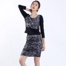 Bộ áo váy thun laze Angeli Phạm BAJ176