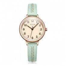 Đồng hồ nữ Julius Hàn Quốc JA-1073D dây da ( xanh)