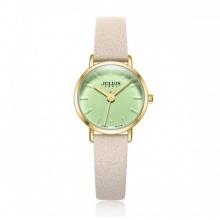 Đồng hồ nữ Julius Hàn Quốc Ja-963 Ju1215 dây da ( kem xanh)
