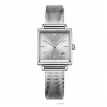 Đồng hồ nữ Julius Hàn Quốc JA-1083A dây thép mặt vuông ( trắng bạc)
