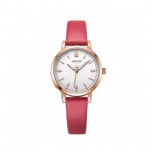 Đồng hồ nữ Julius Hàn Quốc JA-1070C dây da ( đỏ)