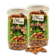 Combo 2 hộp hạnh nhân Mỹ tách vỏ nướng smile nuts (500g/hộp)