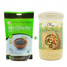 Combo hạt chia 500g + hạt quinoa 500g