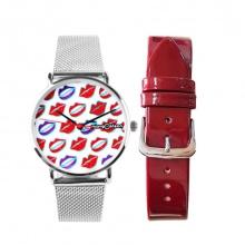 Đồng hồ nữ MS520D Mangosteen Seoul Hàn Quốc (đỏ)  + tặng dây thép (màu bạc)