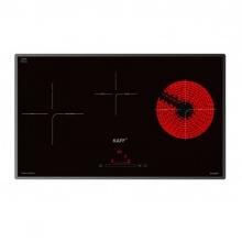 Bếp từ đôi hồng ngoại 3 lò cảm ứng KAFF KF-IC79H tặng hút mùi kính cong Kaff và bộ nhà bếp cao cấp