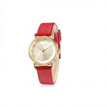 Đồng hồ nữ julius Hàn Quốc JA-1012A dây da ( đỏ)