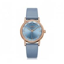 Đồng hồ nữ Julius Hàn Quốc JA-1012C dây da (xanh dương)