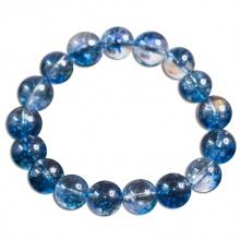 Vòng phong thủy ưu linh xanh lam 10 ly hạt tròn trơn V200-10