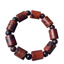 Vòng phong thủy - Vòng phong thủy gỗ sưa đốt trúc 12 ly V183-12