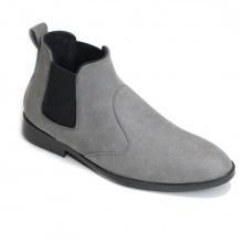 Giày chelsea boot nam cổ chun da buck xám phong cách hàn quốc - CB520-BUCKXAMCHUN