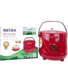 Nồi cơm điện cao cấp Matika MTK-RC07 (Màu đỏ)