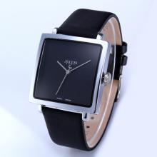 Đồng hồ  dây da chính hãng Julius Hàn Quốc JA-354B (đen mặt đen)