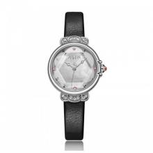 Đồng hồ nữ dây da chính hãng Julius Hàn Quốc JA-1142A (đen)