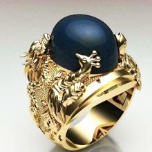 Nhẫn nam tứ linh mạ vàng 14k - RM0867