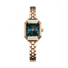 Đồng hồ nữ dây kim loại Julius Hàn Quốc JA-1064C (đồng mặt xanh dương)