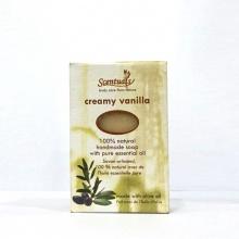 Xà bông cục Scentuals hương kem vani - Creamy Vanilla handmade soap 100g