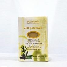 Xà bông cục Scentuals hương hoắc hương dịu nhẹ - Soft Patchouli handmade soap 100g