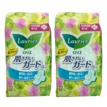 Hàng Nhật - Set 2 gói băng vệ sinh ngày Laurier có cánh ( 22 miếng/gói)
