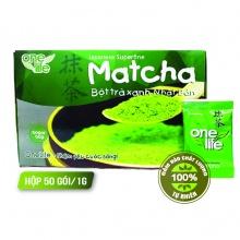 Bột trà xanh nhật bản - matcha onelife - hộp 50 gói