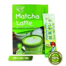 Trà sữa Nhật Bản- matcha latte Onelife (bột trà xanh kem sữa) - Hộp 6 gói