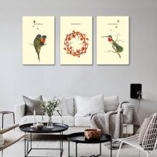 Tranh treo tường phòng khách canvas shago-tổ chim