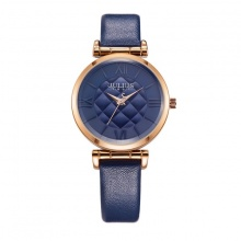 Đồng hồ nữ Julius Hàn Quốc dây da JA-956D (xanh đen)