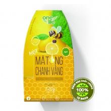 Mật ong chanh vàng tự nhiên Onelife- Hộp 6 gói