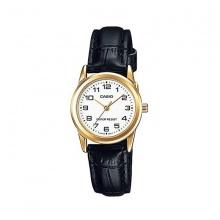 Đồng hồ Casio nữ dây da LTP-V001GL-7BUDF