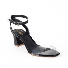 Giày nữ, giày cao gót block heel quai trong Erosska đế vuông cao 5cm phối dây thời trang - EM015 (BA)