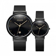 Đồng hồ cặp ja-426e julius hàn quốc dây thép - đen