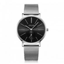 Đồng hồ nữ js-022a julius star hàn quốc dây thép - bạc