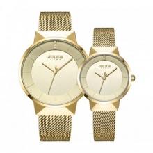 Đồng hồ cặp ja-1104b julius hàn quốc dây thép - vàng