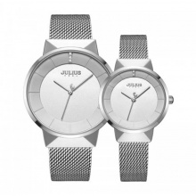 Đồng hồ cặp ja-1104a julius hàn quốc dây thép - bạc