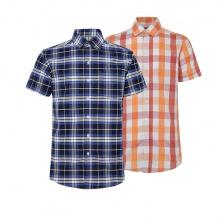 Bộ 2 áo sơ mi ngắn tay sọc caro thời trang SMC005