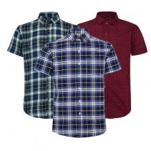 Bộ 3 áo sơ mi ngắn tay sọc caro thời trang SMC008
