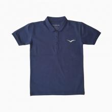 Áo thun có tay thêu logo Vinakids màu tím than 1 - 7 tuổi